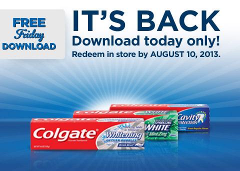 Kroger: Freebie Friday- Free Toothpaste
