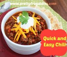 Quick and Easy Turkey Chili Recipe - Pretty Frugal Diva
