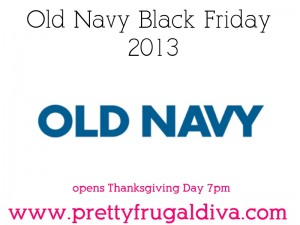 Old Navy Black Friday 2013 Sales Ad