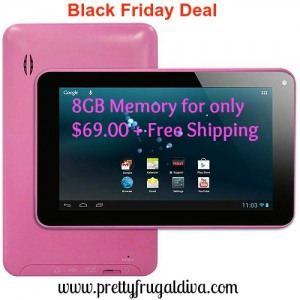 Black Friday Deal: Tablet with 8GB Memory & Google Play Service $69