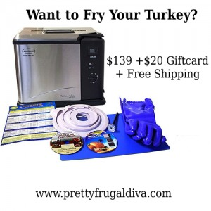 Black Friday Deal: Indoor Turkey Fryer + $20 Gift Card + Free Shipping