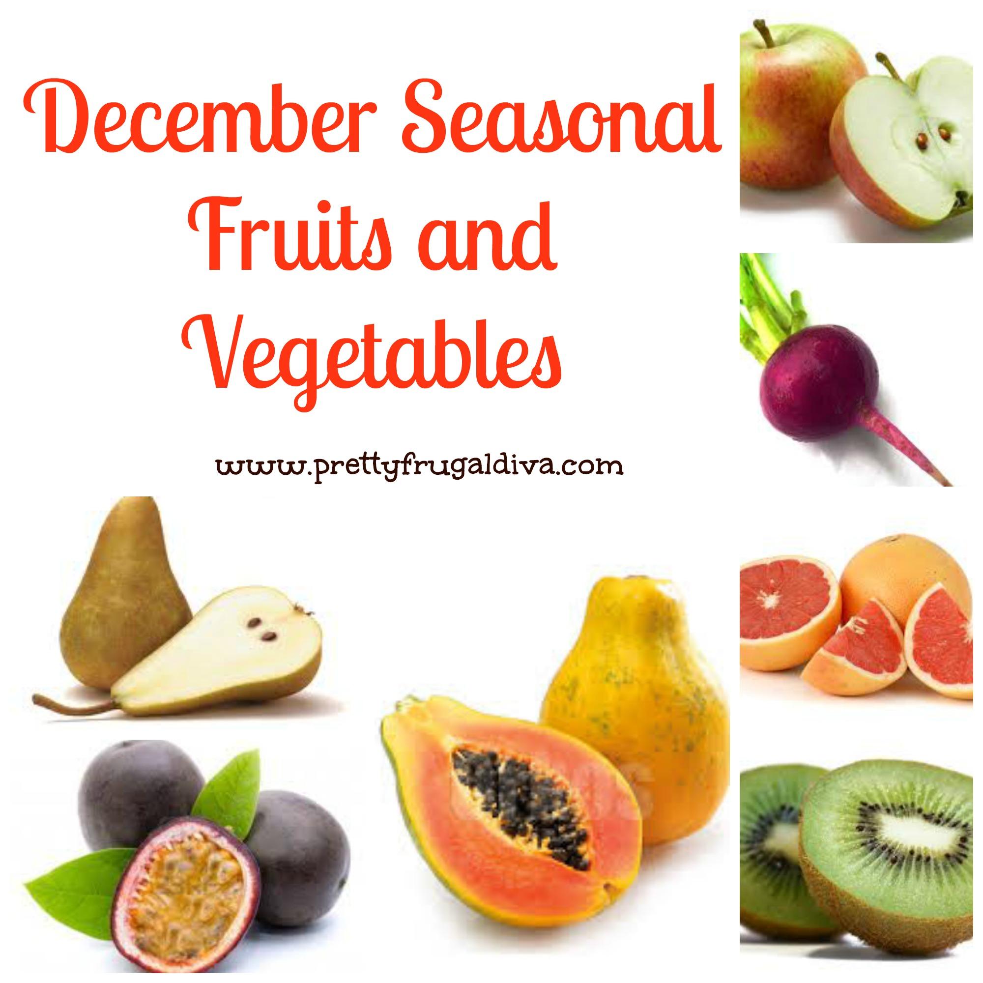 Decembers Seasonal Fruits and Vegetables
