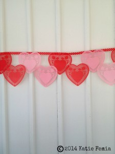 Lace Heart Bunting Valentine's Day Banner