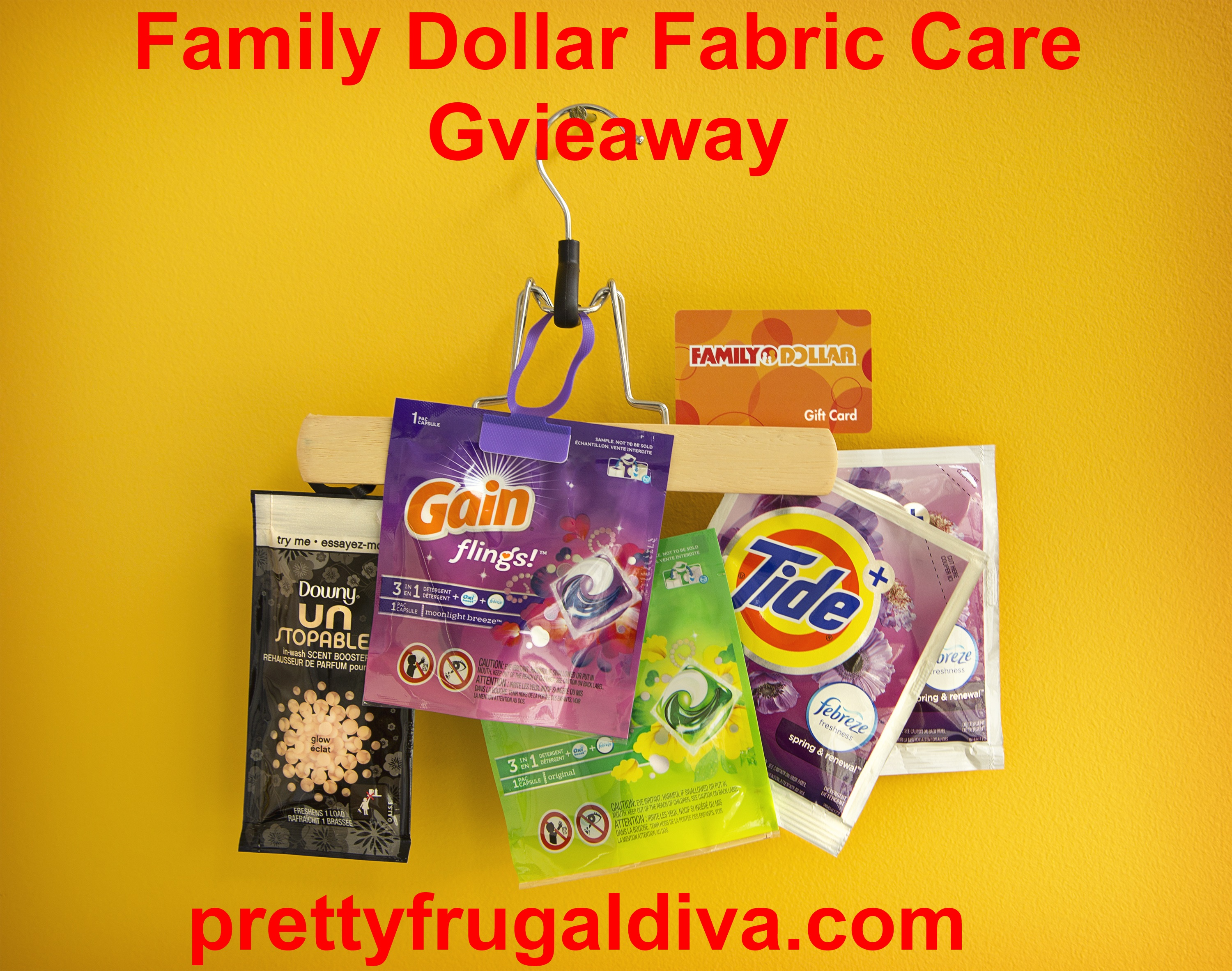 Sponsored Post: Family Dollar Fabric Care Review and Giveaway