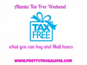 Georgia Tax Free Weekend Aug. 1 -3