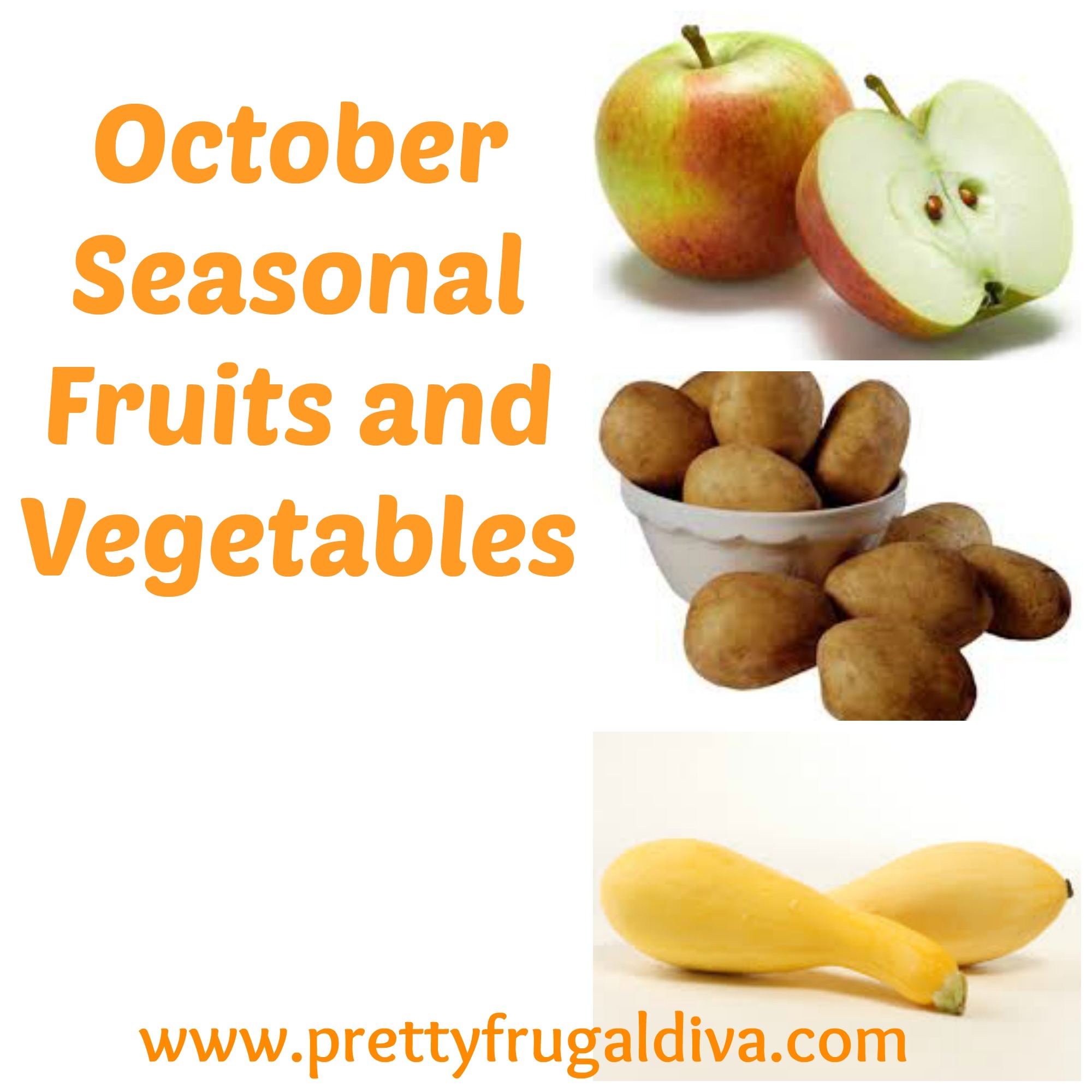 October Seasonal Fruits and Vegetables
