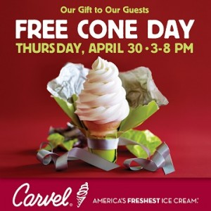 Carvel Free Cone Day April 30
