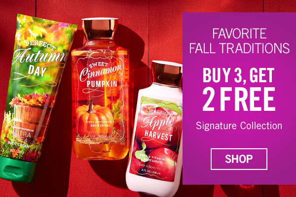 bath and body fall 2015 scents