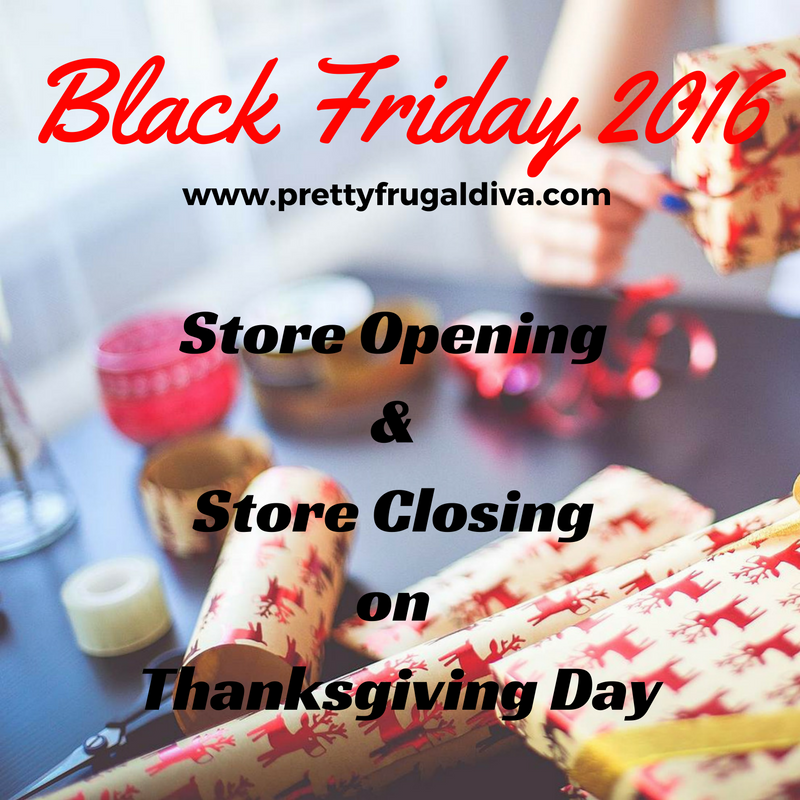 Which Stores are Open & Closed on Thanksgiving 2016