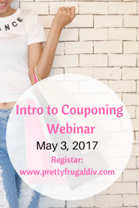 Free Webinar – Intro to Couponing -May 3