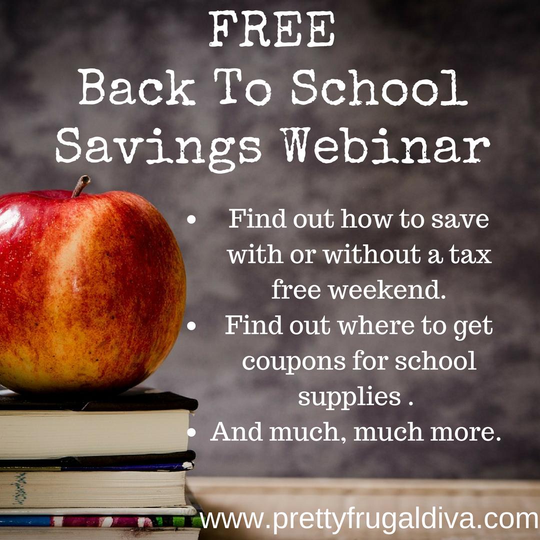 FREE Back To School Webinar