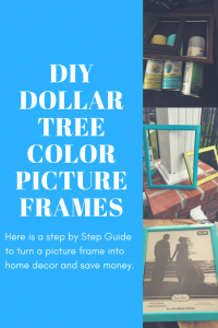 DIY Dollar Tree Project: Color Frames