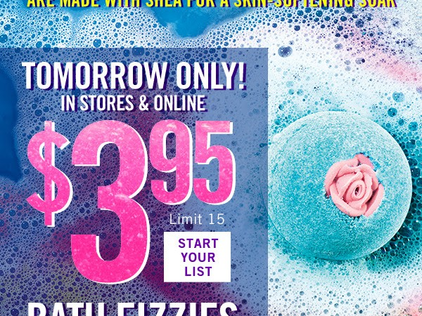 Bath & Body Works: Bath Fizzy on Sale