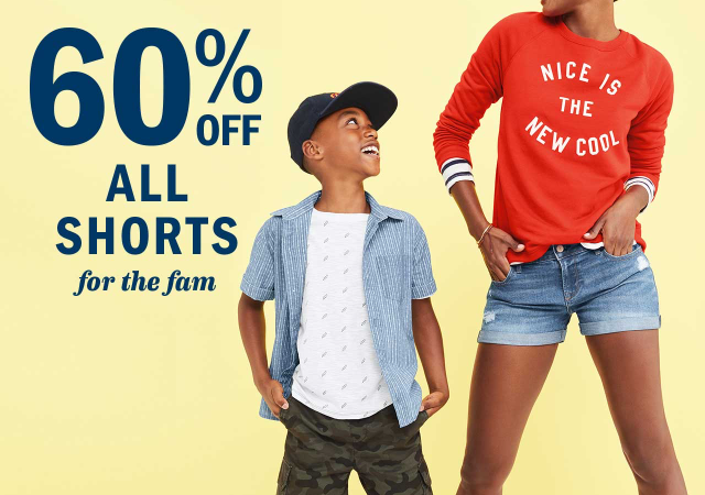 Old Navy: 60% Off today only