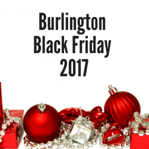 2017 Burlington Black Friday Sales Ad