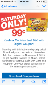 $.99Keebler Cookies Nov 4th Only