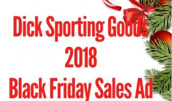 2018 Dicks Sporting Goods Black Friday