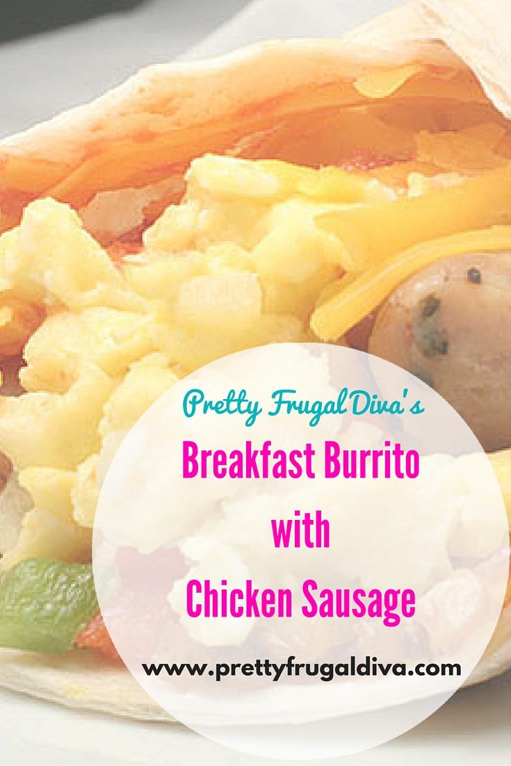 Chicken Sausage Breakfast Burritos