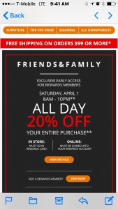 Big Lots: Friend and Family Weekend